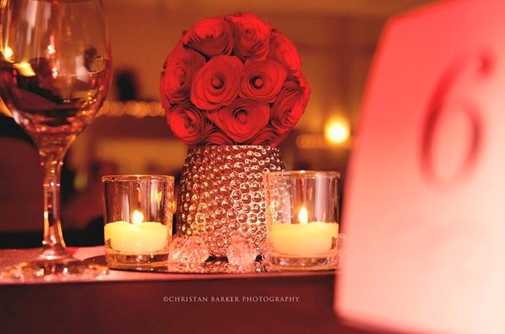 Red Wedding Centerpiece