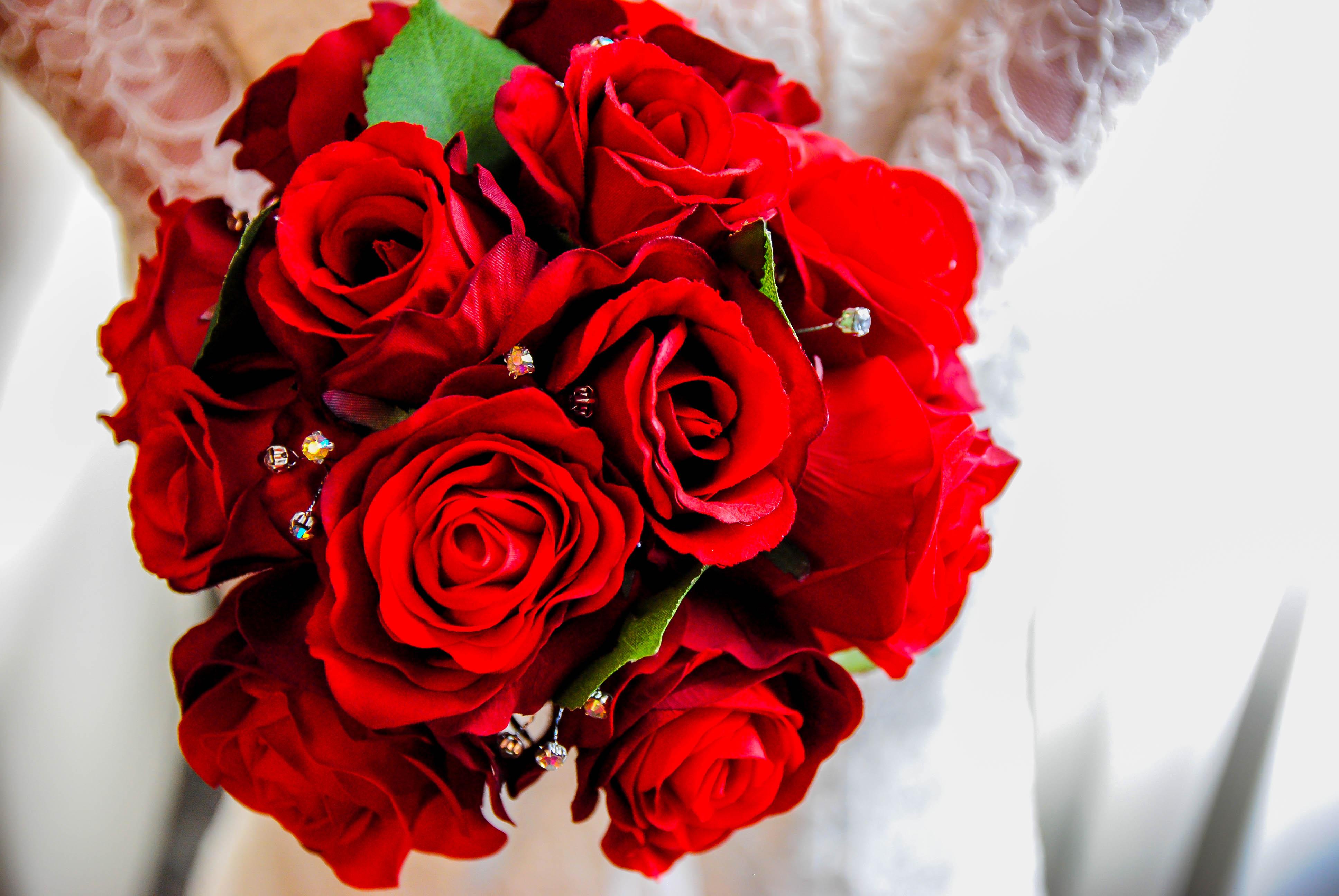 Red Rose Silk Floral Design